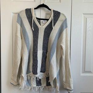 Striped Beach Sweater with Hood